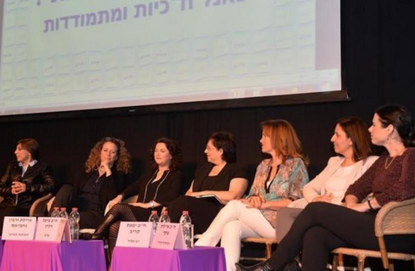 Panel of female politicians at WIZO event on International Women's Day event in Jaffa (photo credit: CHEN ERAN)