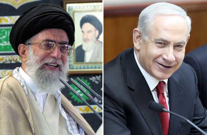 Netanyahu and Khamenei (photo credit: REUTERS,MARC ISRAEL SELLEM/THE JERUSALEM POST)