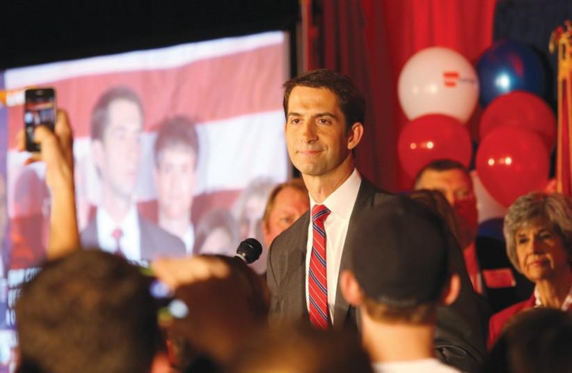 Republican Senator Tom Cotton from Arkansas, (photo credit: REUTERS)