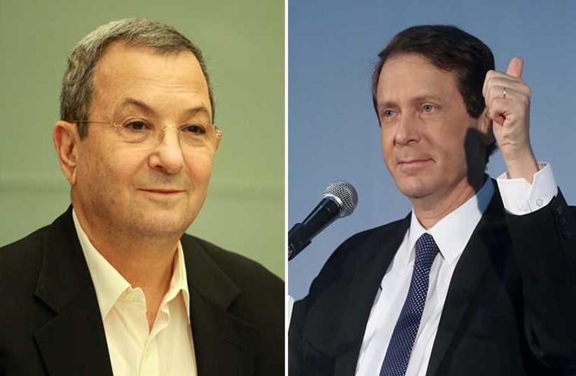 Barak and Herzog (photo credit: MARC ISRAEL SELLEM/THE JERUSALEM POST)