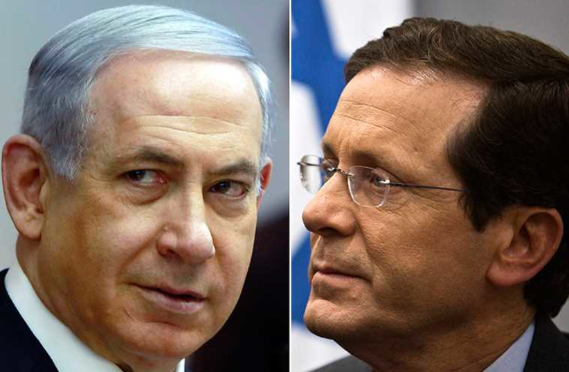 Herzog and Netanyahu (photo credit: REUTERS)