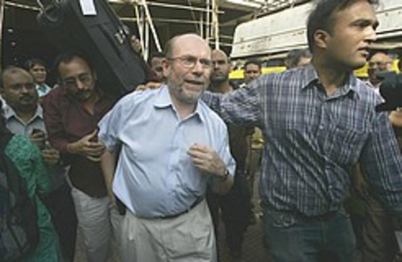 Freed hostages Mumbai 248.88 (photo credit: AP)