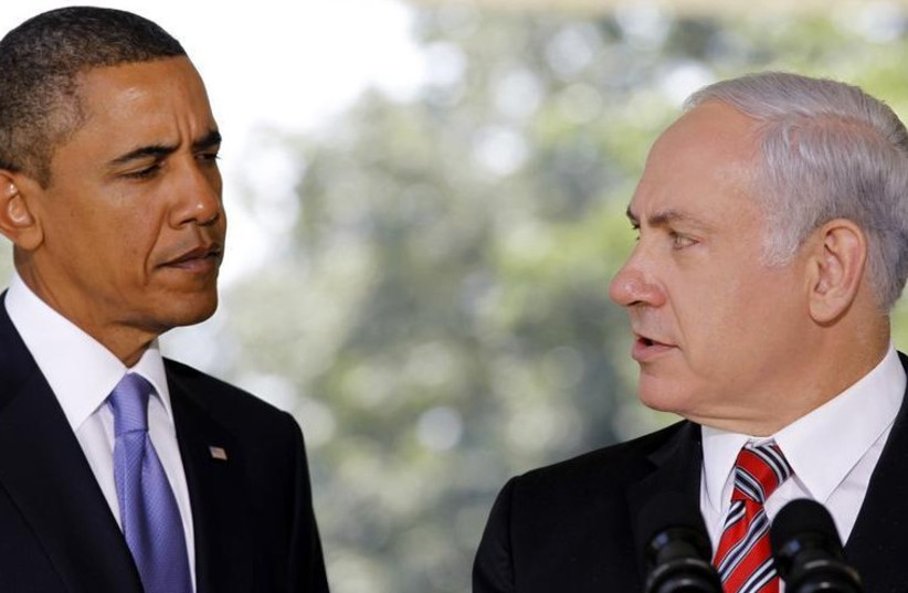 US President Barack Obama (L) and Prime Minister Benjamin Netanyahu (photo credit: REUTERS)