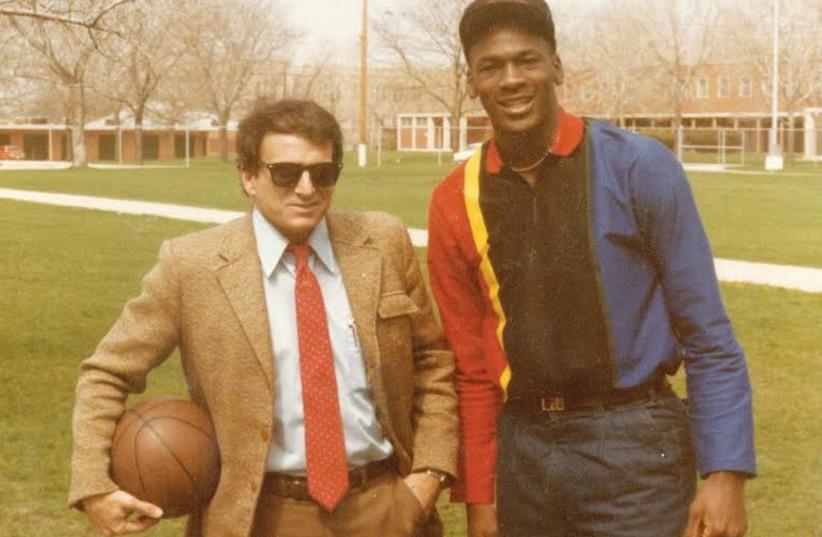 Arik Henig and Michael Jordan in 1984 (photo credit: Courtesy)
