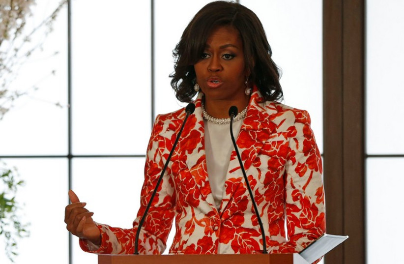 US first lady Michelle Obama (photo credit: REUTERS)