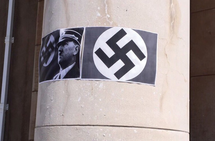 Anti-racism protesters deface South African campus with swastikas, pictures of Hitler (photo credit: Courtesy)