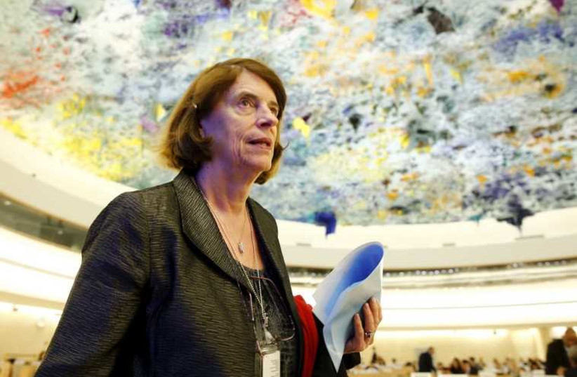 Chair of the Commission of Inquiry on the 2014 Gaza Conflict Mary McGowan Davis (photo credit: REUTERS)