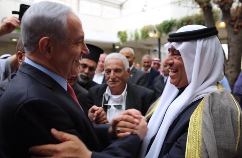 PM Netanyahu with Arab Israeli leaders (photo credit: PRIME MINISTER'S OFFICE)
