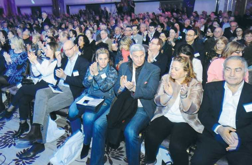 UK SUPPORTERS OF ISRAEL participate in a day-long conference (photo credit: JOHN RIFKIN)