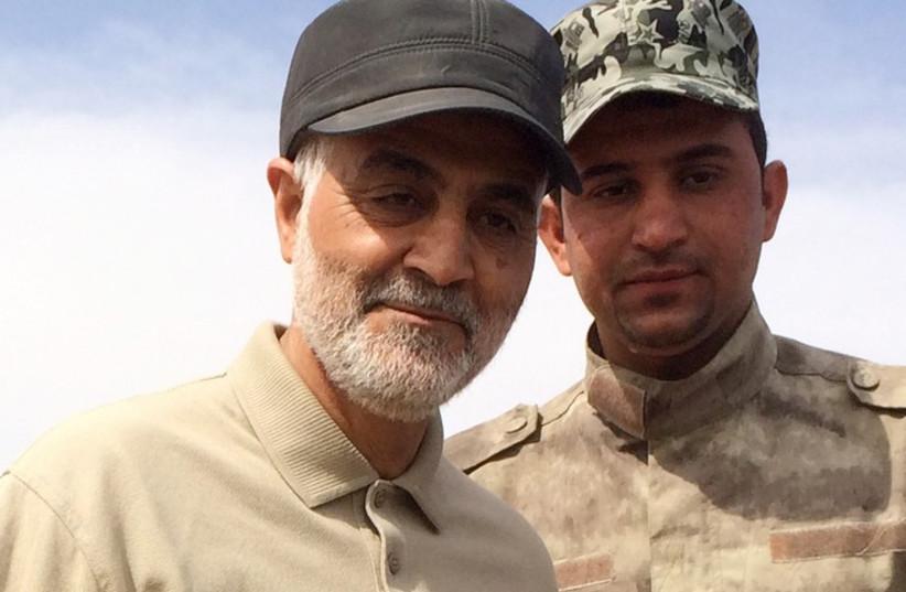 Iranian Revolutionary Guard Commander Qassem Soleimani (photo credit: REUTERS)