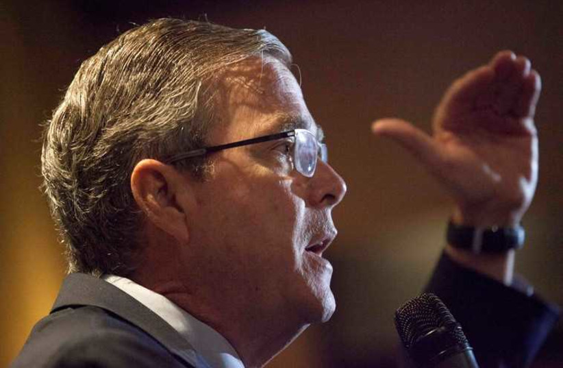 Probable 2016 Republican US presidential candidate and former Florida Governor Jeb Bush (photo credit: REUTERS)