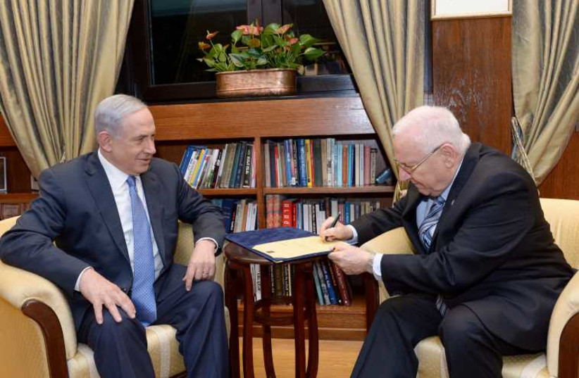Netanyahu and Rivlin (photo credit: AVI OHAYON - GPO)