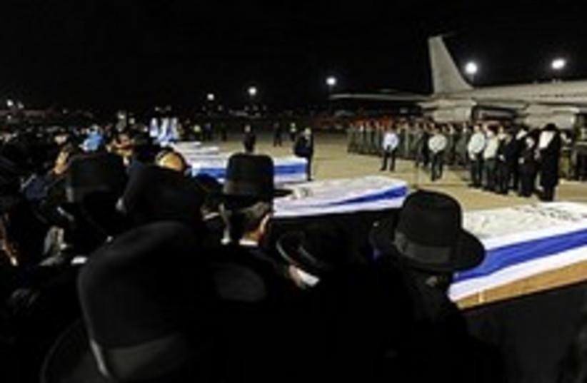 mumbai victims coffins flags 248 (photo credit: GPO)