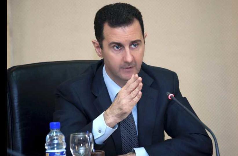 Bashar Assad (photo credit: REUTERS)