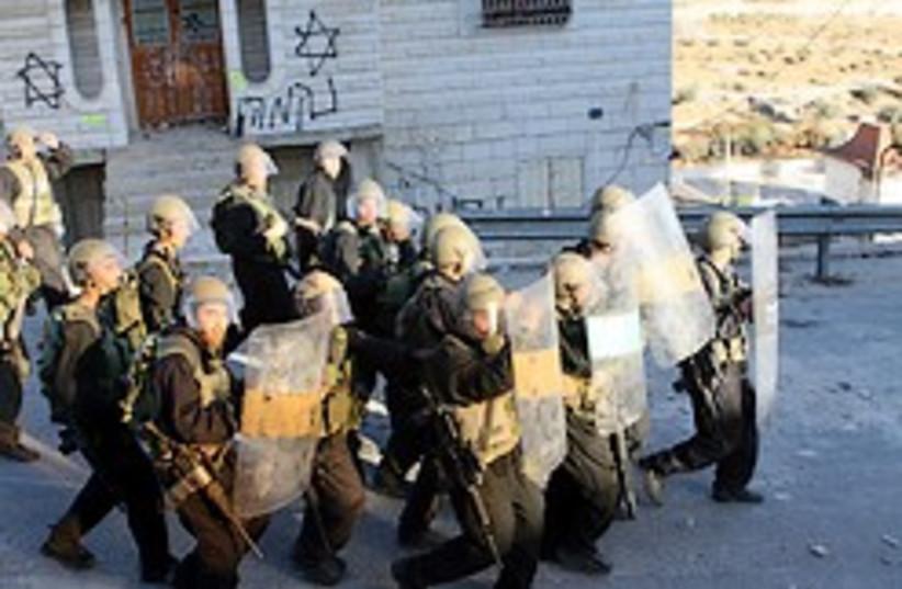 border police hebron 248.88 aj (photo credit: Ariel Jerozolimski )