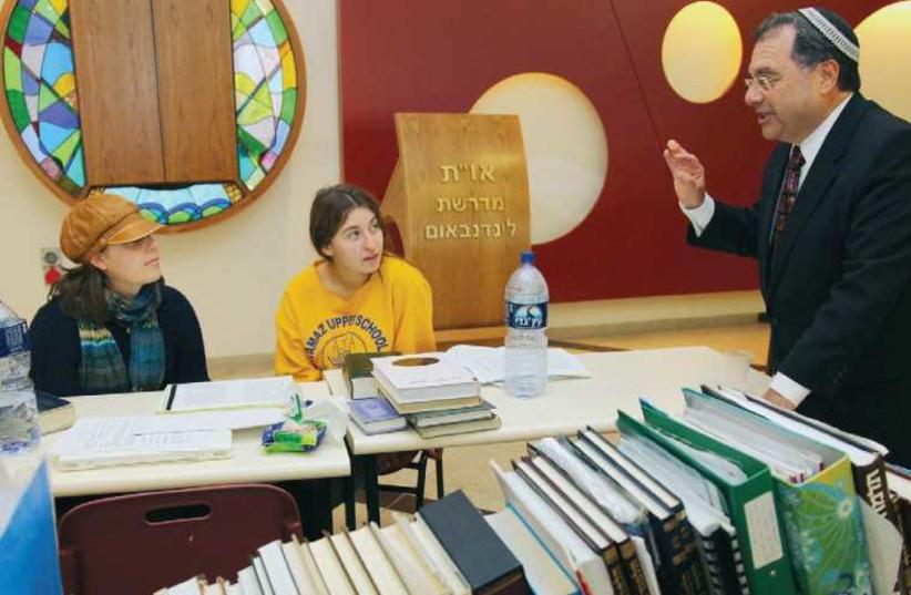 Rabbi Shlomo Riskin at Midreshet Lindenbaum. (photo credit: MARC ISRAEL SELLEM/THE JERUSALEM POST)