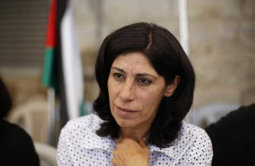 Palestinian parliamentarian Khalida Jarrar (photo credit: REUTERS)