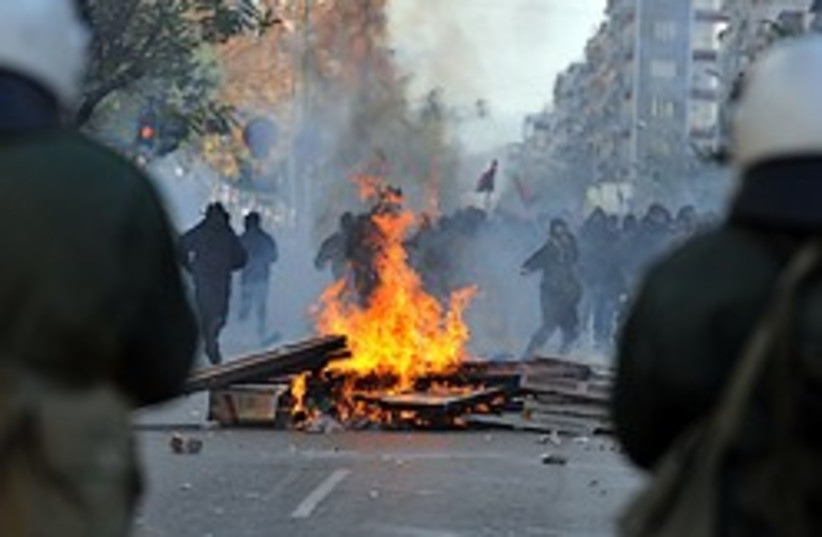 greece riots fire 248.88 ap (photo credit: )