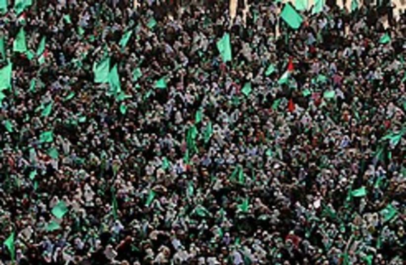 hamas rally gaza 248.88 ap (photo credit: )