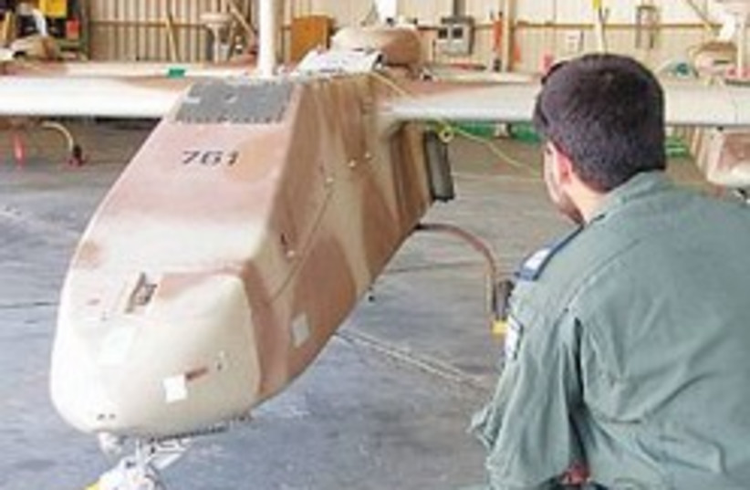 Searcher UAV unmanned IAF 248 88 (photo credit: Yaakov Katz [file])