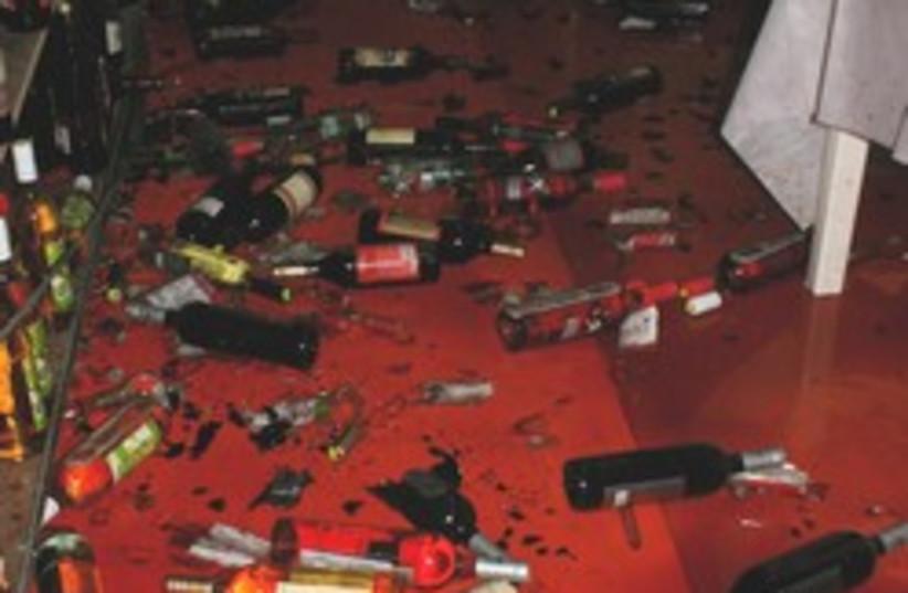 broken bottles sderot kassam (photo credit: Tovah Lazaroff)