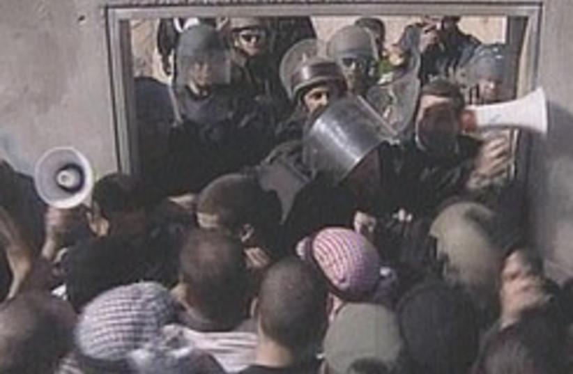 Tzehilim riot drill 248.88 (photo credit: Channel 2)