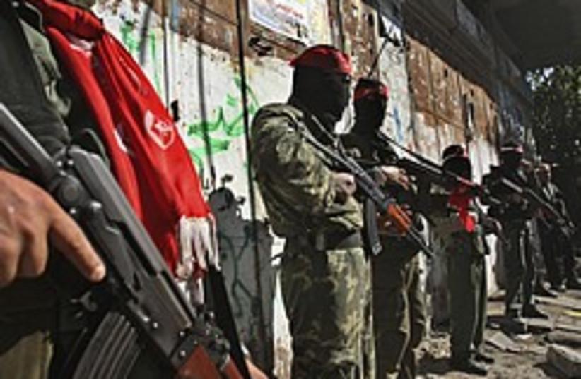 Palestinian gunmen gaza 248 88 ap (photo credit: AP)