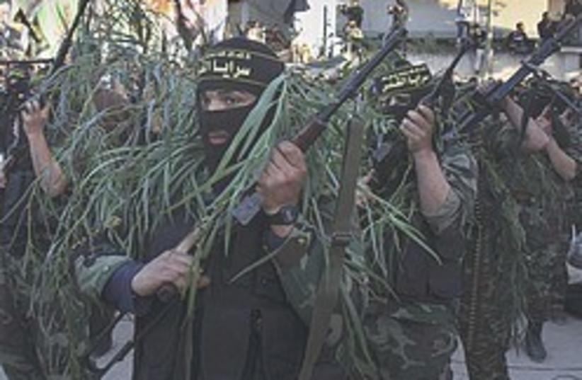 islamic jihad dressed as trees 248 88 ap (photo credit: AP)