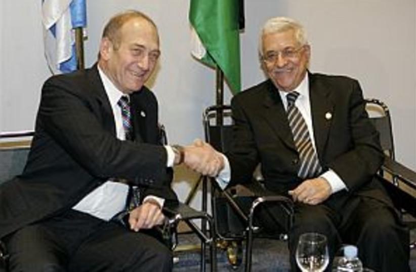 olmert abbas euromed 298 (photo credit: AP [file])