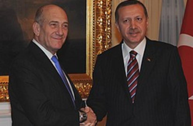Olmert and Erdogan 248.88 (photo credit: GPO)