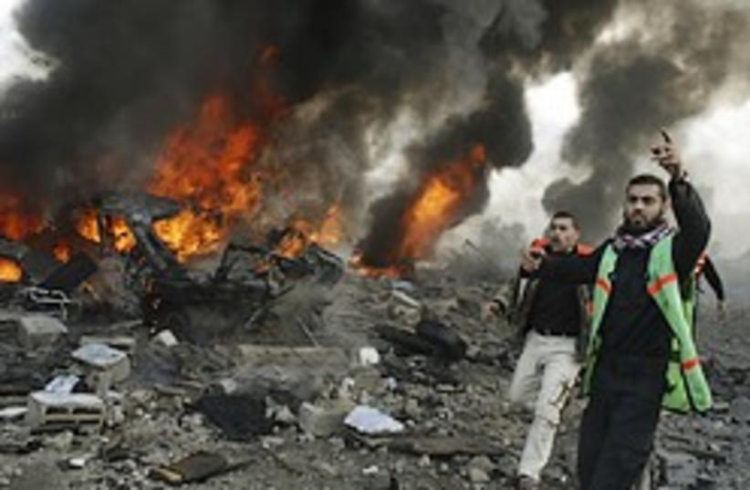Gaza strike fire 248.88 (photo credit: AP [file])