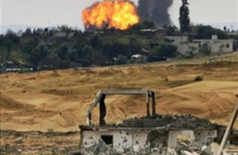 gaza explosion strike wicked 248 88 (photo credit: AP)