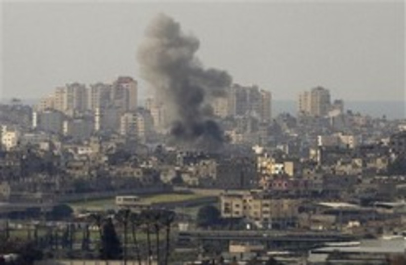 gaza explosion air strike 248 88 (photo credit: AP)