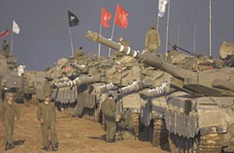 tanks near gaza 248.88 (photo credit: AP)