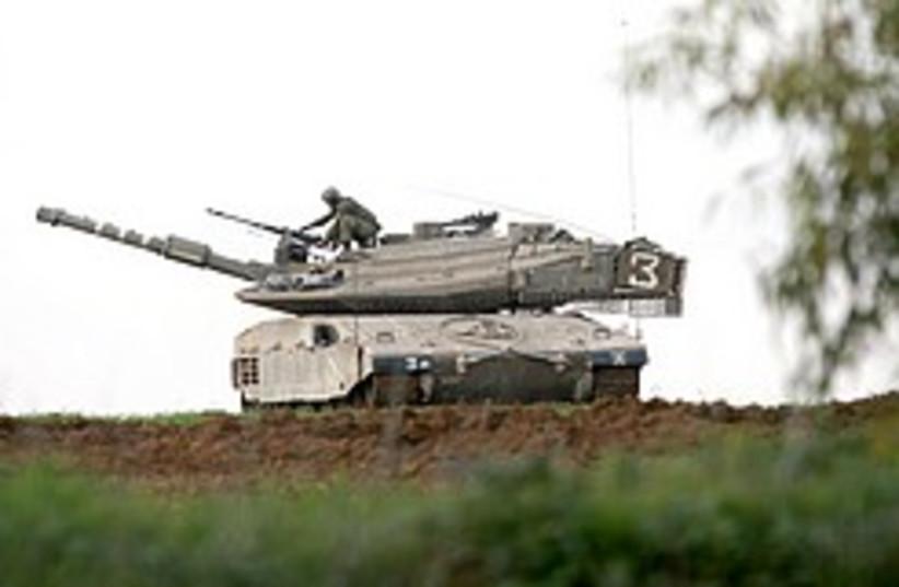 gaza tank aj 248 (photo credit: Ariel Jerozolimski)