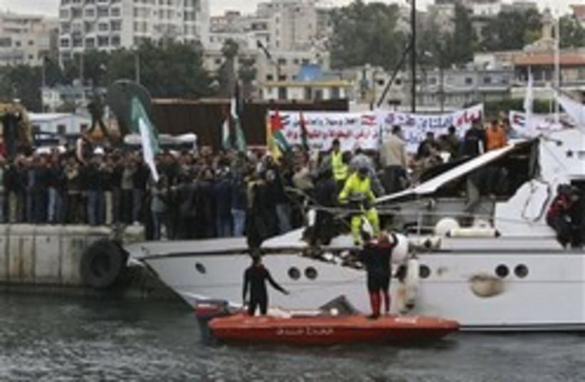 gaza boat in lebanon 248.88 (photo credit: AP)