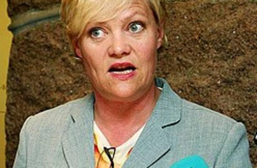 Kristin Halvorsen 248 88 (photo credit: AP)