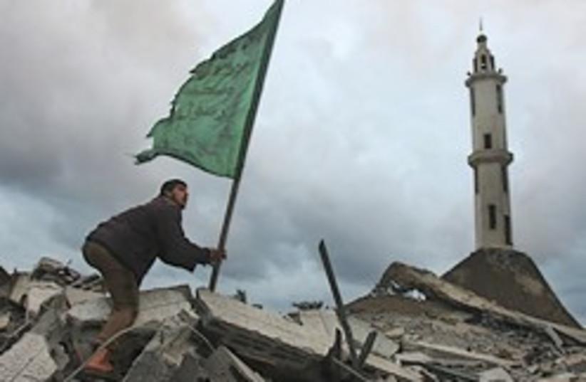 gaza mosque rubble 248.88 (photo credit: AP)
