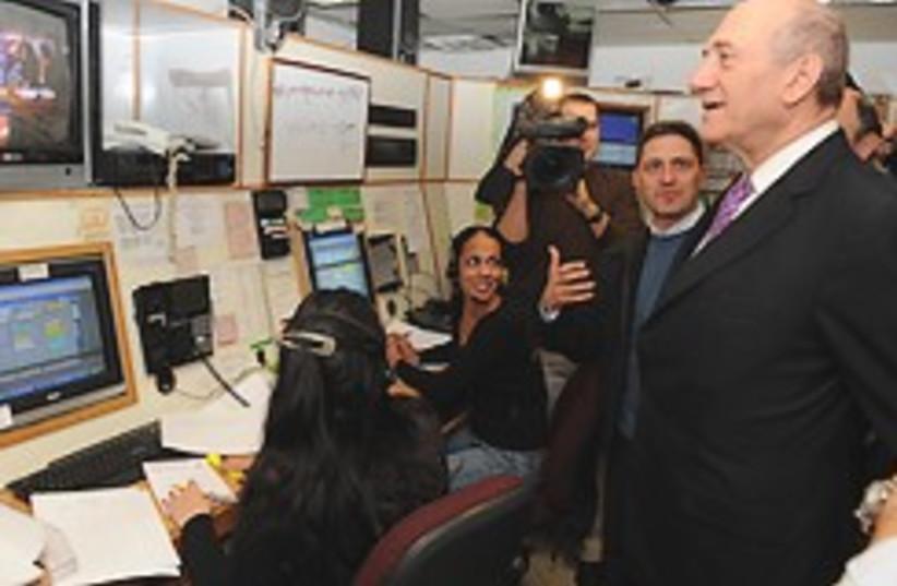 Olmert Beersheba control room 248.88 (photo credit: GPO)