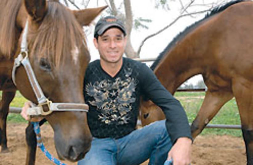 Oren Sada with horse 88 248 (photo credit: Sarit Uziely)