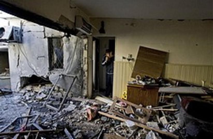 kassam hit sderot 248.88 ap (photo credit: AP)