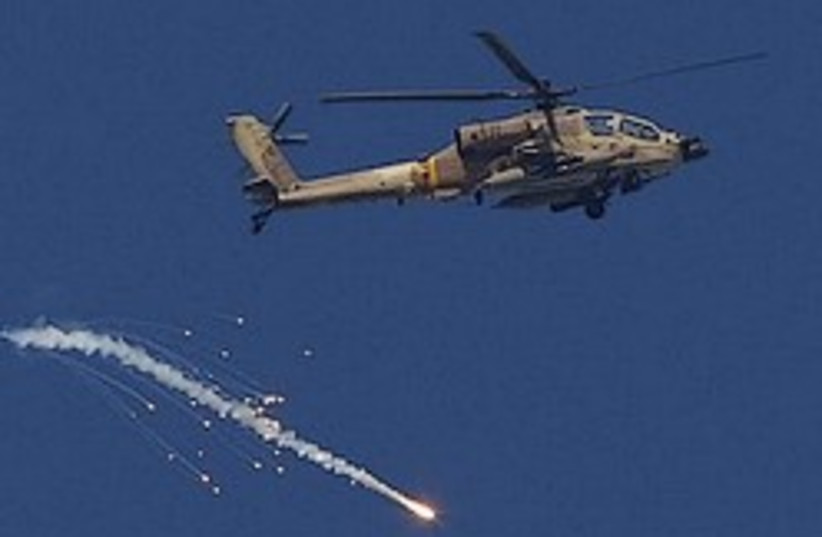 apache iaf helicopter great 248 ap (photo credit: AP [file])
