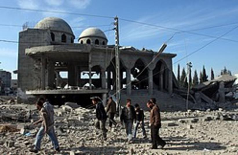 gaza damaged mosque 248 88 ap (photo credit: AP)
