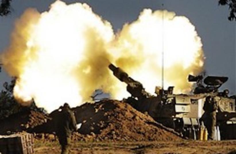 idf artillery gaza the best 248 ap (photo credit: AP)