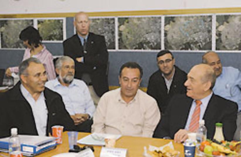 Ehud Olmert meeting 88 248 (photo credit: GPO)
