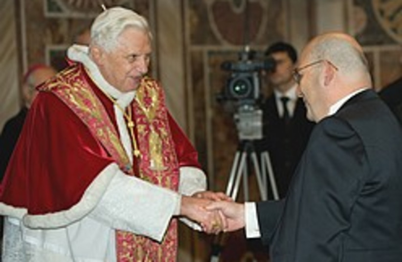 pope Israeli ambassador 248.88 (photo credit: AP)