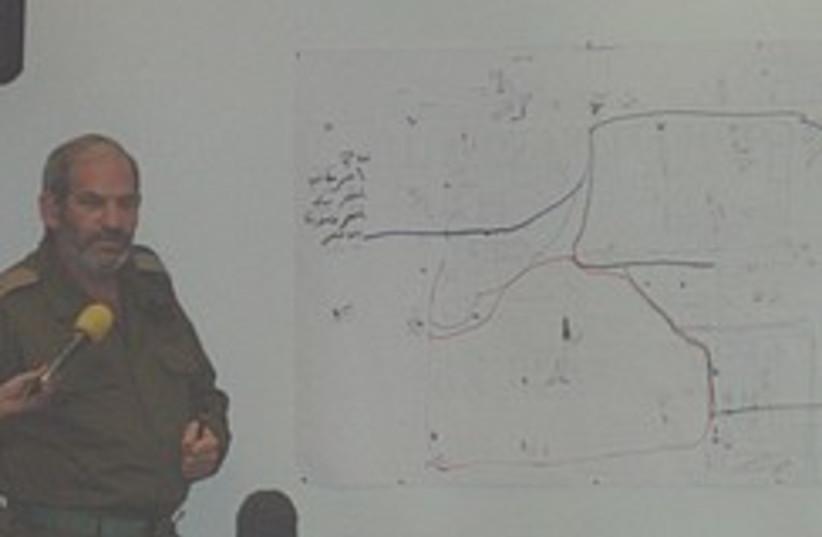 map seized in Gaza 248.88 (photo credit: Yaakov Katz )