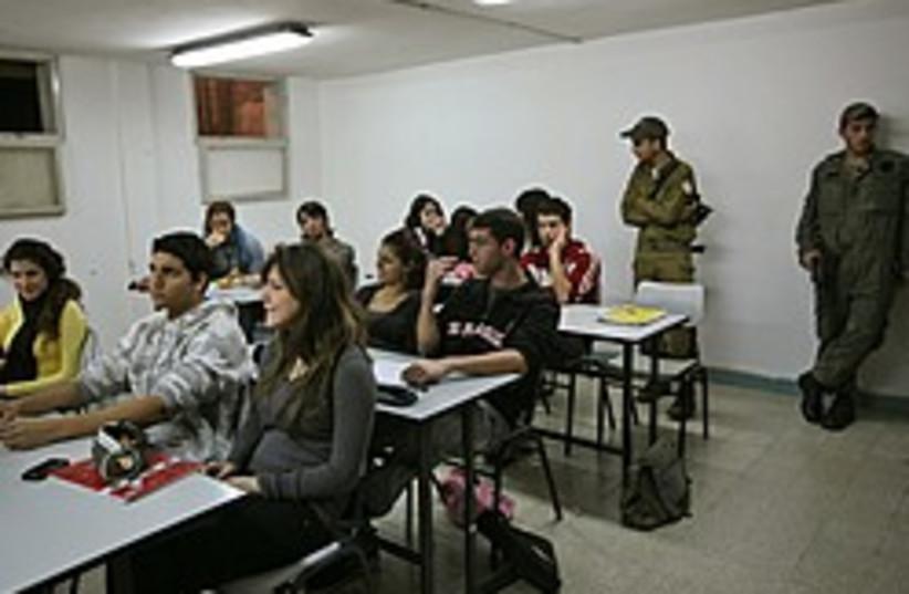 beersheba students bomb shelter 248 88 (photo credit: AP)