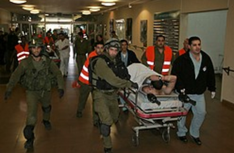 wounded soldier soroka 248 88 ap (photo credit: AP)