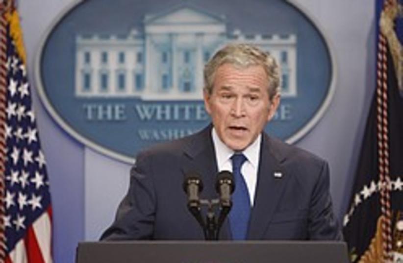 bush farewell press conference 248 88 ap (photo credit: AP)